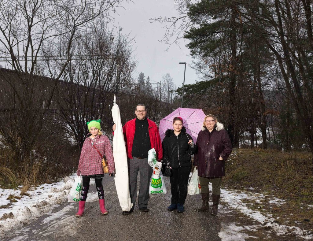 Family portrait, Huddinge, Sweden 2017